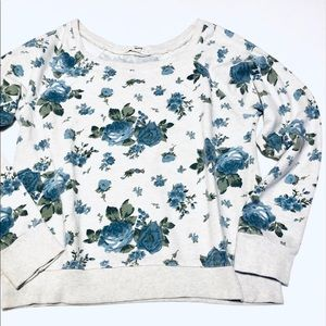 Floral sweatshirt Small blue roses
